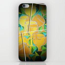 Broken Wine glass iPhone Skin