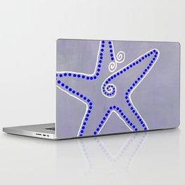 Big Starfish - Blue & White Laptop & iPad Skin