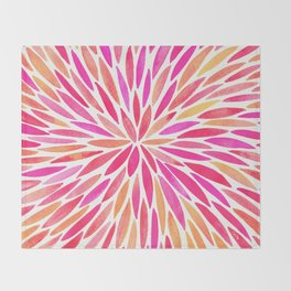 Watercolor Burst – Pink Ombré Throw Blanket