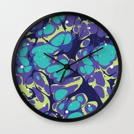 Liquid Lifeforms Wall Clock