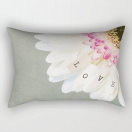 Love Flower Rectangular Pillow