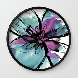 Ecstasy Bloom No.17o by Kathy Morton Stanion Wall Clock