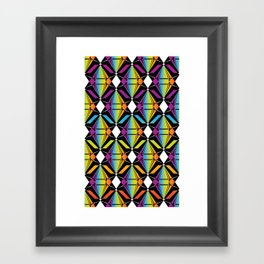 Abstract [RAINBOW] Emeralds pattern Framed Art Print
