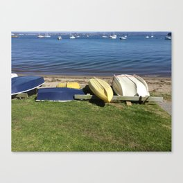 Dinghies on the Bay Canvas Print