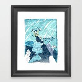 Summit Excitement! Framed Art Print
