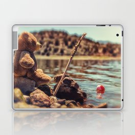 My Fishing Buddy a little teddy bear Laptop & iPad Skin