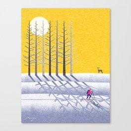 Ski holidays Canvas Print