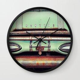 old green pontiac Wall Clock