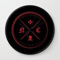 nightcrawler Wall Clocks featuring Nightcrawler Logo by Nightcrawlerstuff