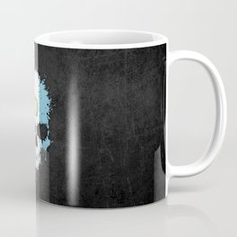 Flag of Guatemala on a Chaotic Splatter Skull Coffee Mug