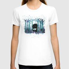 A Quiet Spot X-LARGE White Womens Fitted Tee