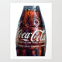 coca cola Art Prints featuring The Real... by LesImagesdeJon