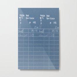 Library Card 797 Negative Blue Metal Print