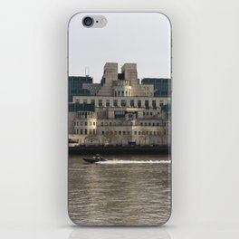 SIS Secret Service Building London And Rib Boat iPhone Skin