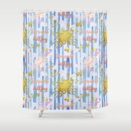 Cute Feminist Killjoy Pattern Shower Curtain