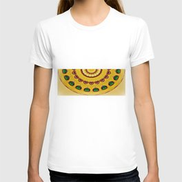 Golden Jewel with Emerald stones  T-shirt