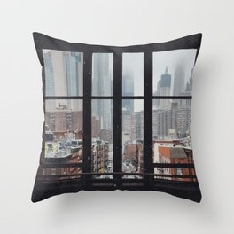New York City Window Throw Pillow