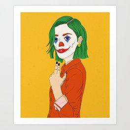 Joker girl - Put on a happy face Art Print