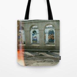 Through the Pillars Tote Bag