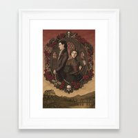 jane eyre Framed Art Prints featuring Jane Eyre by eevanikunen