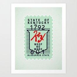 Kentucky Green Stamp Art Print