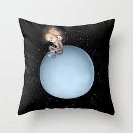 Lost in a Space / Uranusia Throw Pillow