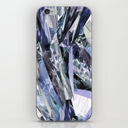 Ice Blue Crystalize iPhone Skin