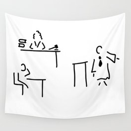 lawyer judge public prosecutor court Wall Tapestry