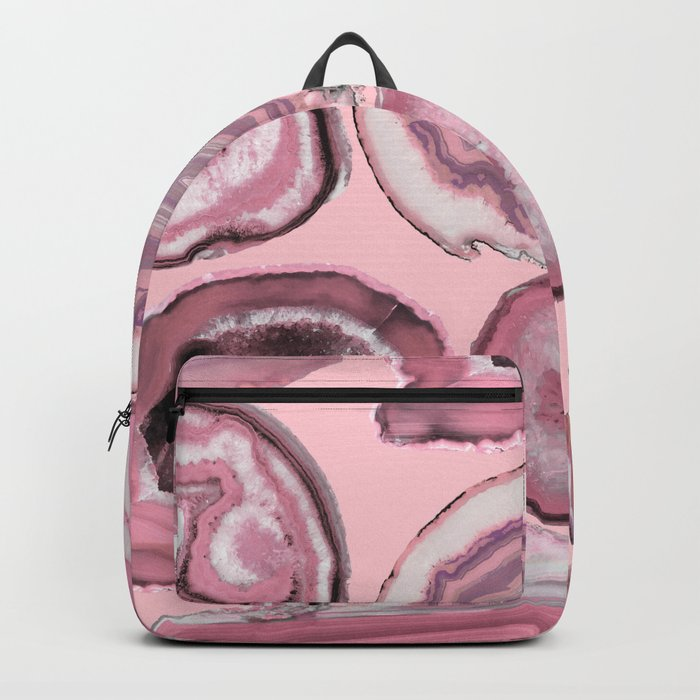 Pink Agates Theme Backpack