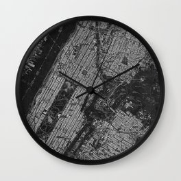 Central Park New York 1947 vintage old map for office decoration Wall Clock