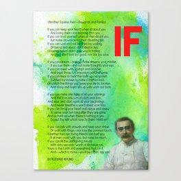 If BY RUDYARD KIPLING v1 Canvas Print