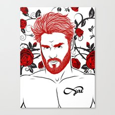 Red & Roses Canvas Print