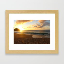 Sunset in Hawaii Framed Art Print