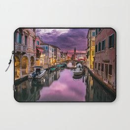Venice Italy Canal at Sunset Photograph Laptop Sleeve
