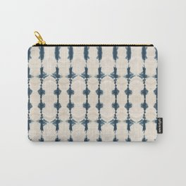 Shibori Movement in Indigo Carry-All Pouch