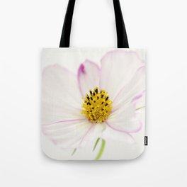 Sensation Cosmos White Bloom Tote Bag
