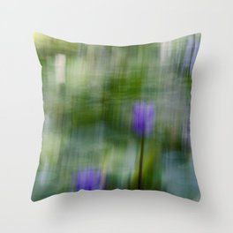 Tropical Impressionism (Purple Water Lily) Throw Pillow