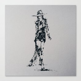 Splaaash Series - Fashion Walk Ink Canvas Print