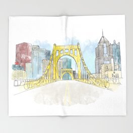 Roberto Clemente Bridge Throw Blanket