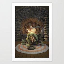 Cig-bot fireplace Art Print