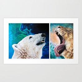 Sarah Smith Painting Duo Art Print