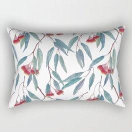 Eucalyptus leaves and flowers on light Rectangular Pillow