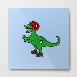Roller Derby Velociraptor Metal Print