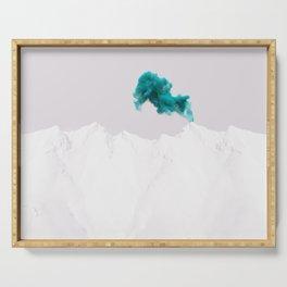 Snowy Mountain Smoke Signal Serving Tray
