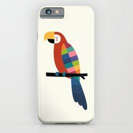 Rainbow Parrot iPhone Case