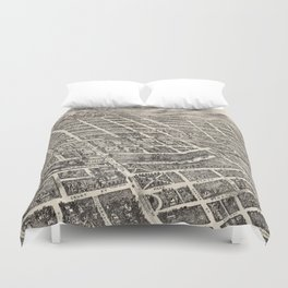 Vintage Pictorial Map of Reno Nevada (1907) Duvet Cover