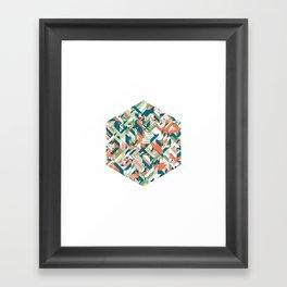 Summer Geometric Framed Art Print