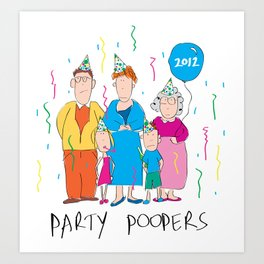 Party Poopers Art Print