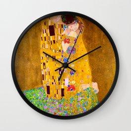 Gustav Klimt - The Kiss - Der Kuss - Vienna Secession Painting Wall Clock