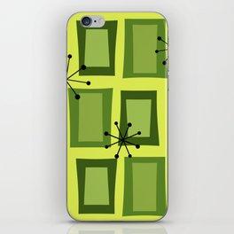 Mid Century Modern Art 'Wonky Doors' Chartreuse iPhone Skin